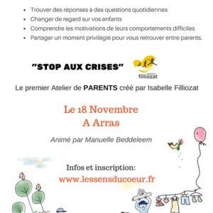 Stop aux crises à Arras (62) animé par Manuelle Beddeleem